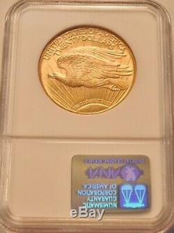 1924 $20 NGC MS 65 St. Gaudens Gold Double Eagle, GEM Uncirculated Saint Twenty