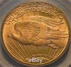 1924 $20 PCGS MS 64 Gold St. Gaudens Double Eagle, OGH Near GEM Unc, PQ Saint