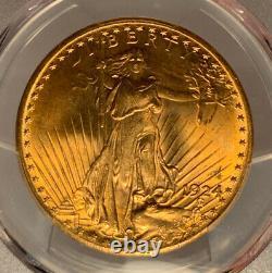 1924 $20 PCGS MS 66 St. Gaudens Gold Double Eagle