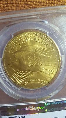 1924 $20 ST GAUDENS GOLD PCGS MS 66 DOUBLE EAGLE. Rare PQ approved emblem