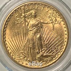 1924 $20 Saint Gaudens Double Eagle Gold Coin in AIR-TITE