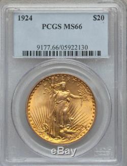 1924 $20 Saint Gaudens Double Eagle / PCGS MS-66
