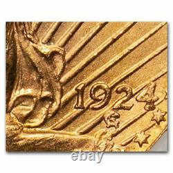 1924 $20 Saint-Gaudens Gold Double Eagle MS-64 NGC (DDO VP-001) SKU#153772