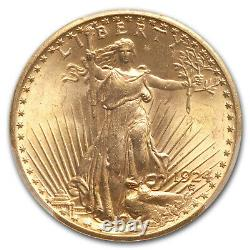 1924 $20 Saint-Gaudens Gold Double Eagle MS-64 PCGS CAC SKU#167206