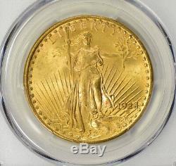 1924 $20 Saint Gaudens Gold Double Eagle MS 65 PCGS, Gem
