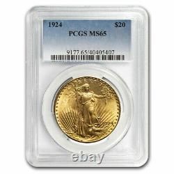 1924 $20 Saint-Gaudens Gold Double Eagle MS-65 PCGS SKU # 11527