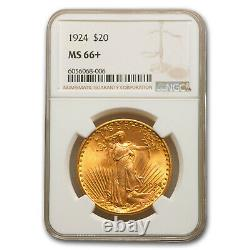 1924 $20 Saint-Gaudens Gold Double Eagle MS-66+ NGC SKU #94523