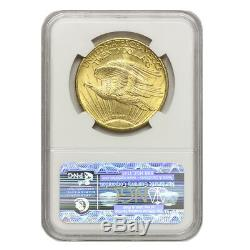1924 $20 Saint Gaudens NGC MS63 Choice graded Gold Double Eagle coin WELL STRUCK