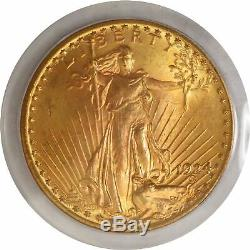 1924 $20 St Gaudens Double Eagle Gold PCGS MS65