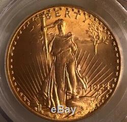 1924 $20 St. Gaudens Double Eagle Pcgs Ms66 Saint Ms-66 Stunning