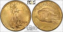 1924 $20 St Gaudens Gold Pcgs Ms 66+ Double Eagle