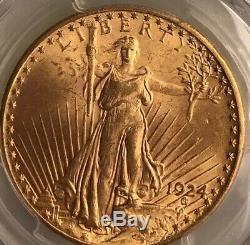 1924 $20 St Gaudens PCGS MS65 GEM Philadelphia Gold Double Eagle