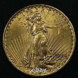 1924 $20 Twenty Dollar St Gaudens Gold Double Eagle