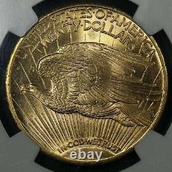 1924 $20 Twenty Dollar St Gaudens Gold Double Eagle NGC MS 63