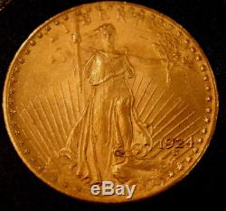 1924 Double Eagle, $20 Gold St Gaudens