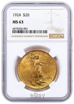 1924 Saint-Gaudens $20 Gold Double Eagle NGC MS63 SKU32741