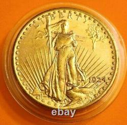 1924 Saint Gaudens Double Eagle Gold Coin! . 9675 $20.00 Gold Coin! 1907-1933