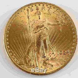 1924 St Gaudens $20 Double Eagle Gold Coin