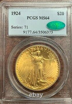 1924 St. Gaudens Double Eagle PCGS MS64 & CAC Stunner! NO RESERVE