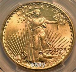 1925 $20 PCGS MS 64 Gold St. Gaudens Double Eagle, Better PQ Twenty Dollar Saint