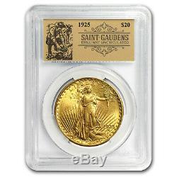 1925 $20 Saint-Gaudens Double Eagle BU PCGS (Prospector Label) SKU#151077
