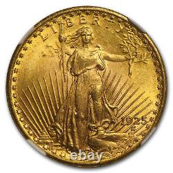 1925 $20 Saint-Gaudens Gold Double Eagle MS-65 NGC SKU#14454