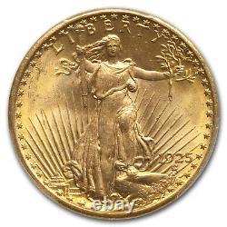 1925 $20 Saint-Gaudens Gold Double Eagle MS-66 PCGS SKU #58606