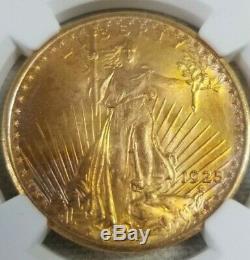 1925 $20 Saint-Gaudens Gold Double Eagle MS-67 NGC