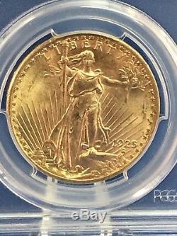 1925 $20 Saint Gaudens Gold Double Eagle PCGS MS65 84747406