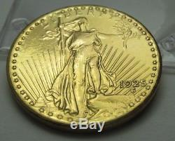 1925 $20 St. Gaudens Double Eagle Gold Coin 113