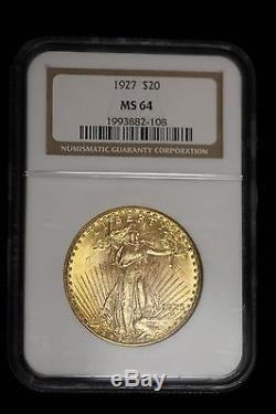 1925 $20 St. Saint Gaudens Double Eagle Gold NGC MS64 Coin Twenty Dollar