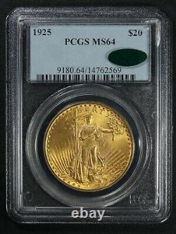 1925 $20 Twenty Dollar St. Gaudens Gold Double Eagle PCGS MS 64 CAC