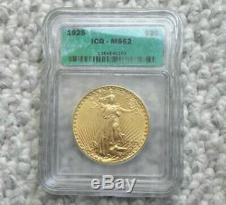 1925 MS62 Double Eagle, $20 Gold St Gaudens ICG MS 62 Free Shipping