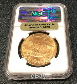 1925 NGC Certified MS 65 $20 Gold St Gaudens Double Eagle
