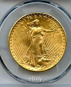1925 Twenty Dollar $20 Saint Gaudens Double Eagle PCGS 62