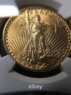 1925 US Gold $20 Saint Gaudens Double Eagle NGC MS63