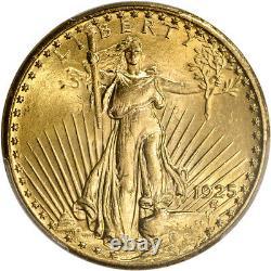 1925 US Gold $20 Saint-Gaudens Double Eagle PCGS MS64