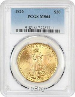 1926 $20 PCGS MS64 Saint Gaudens Double Eagle Gold Coin Gold Type Coin