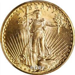 1926 $20 Philadelphia Gold GEM St Gaudens Double Eagle PCGS MS65