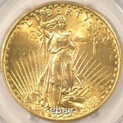 1926 $20 Saint Gaudens Gold Double Eagle Coin PCGS MS64 CAC Approved