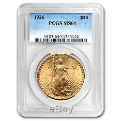 1926 $20 Saint-Gaudens Gold Double Eagle MS-64 PCGS SKU#23834