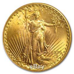 1926 $20 Saint-Gaudens Gold Double Eagle MS-65 NGC SKU#154519