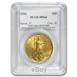 1926 $20 Saint-Gaudens Gold Double Eagle MS-66 PCGS SKU#58864