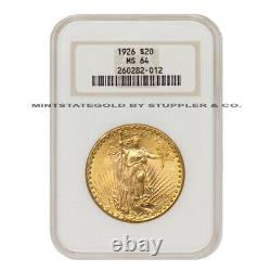 1926 $20 Saint Gaudens NGC MS64 Gold Double Eagle Choice Twenty Dollar Coin