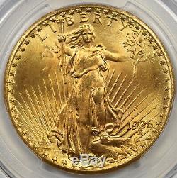 1926 Saint Gaudens Double Eagle Gold $20 MS 66 PCGS Secure Shield