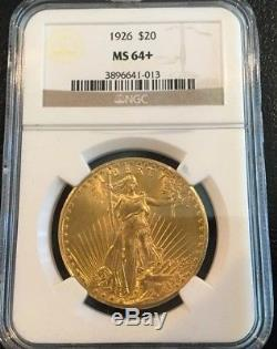 1926 St. Gaudens U. S. Liberty Double Eagle $20 Gold Coin NGC MS 64+