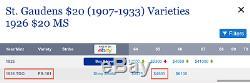 1926 TDO PCGS MS65 TRIPLED DIE OBVERSE Scarce $20 Saint Gaudens DOUBLE EAGLE