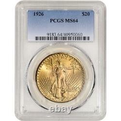 1926 US Gold $20 Saint-Gaudens Double Eagle PCGS MS64