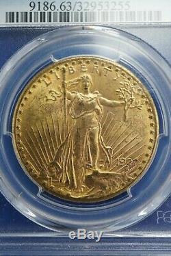 1927 1 oz gold Double Eagle Saint-Gaudens PCGS MS63
