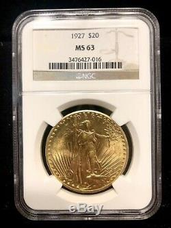 1927 $20 GOLD ST. GAUDENS DOUBLE EAGLE NGC MS 63 Beautiful PQ+ Estate Sale